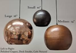 soluna copper lights globe pendant