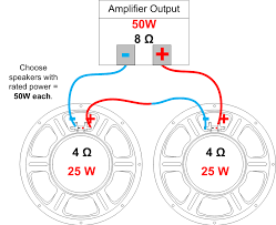 speaker wiring diagram 2 wiring diagrams best speaker impedance power handling and wiring amplified parts stereo wiring diagram 2003 mitsubishi eclipse example