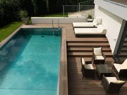 Swimming Pool:Modern Small Indoor Swimming Pool Design With Stone Surround  Ideas Appealing Modern Patio