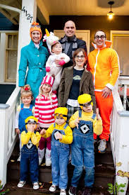 Despicable Me characters for Halloween! Handmade costumes. Our 5th year  dressing as families together