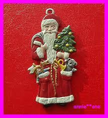 Weihnachten Anhänger Weihnachtsmann 3 Tannenbaum
