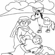 The Good Samaritan Bible Coloring Pages