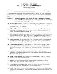 Scholarship Resume Template Job Sample Outline Regarding 89