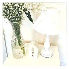 white bedside lamps shabby chic table lamps um size of delectable white shabby chic table lamp
