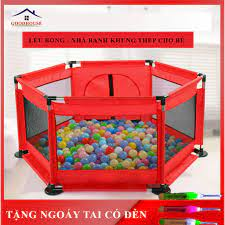 Nhà bóng cho bé, quây bóng, lều bóng lục giác khung inox siêu bền an toàn cho  bé- TẶNG KÈM 10 BÓNG tại Nam Định
