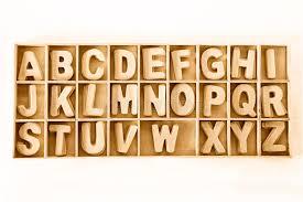 capital wooden block letter abc alphabet set wood box