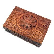 large carved wooden flower lock bo