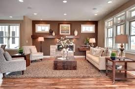 brown living room. brown living room color schemes this open plan smartly uses a light rug . e