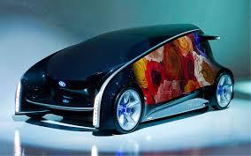 Каким он будет автомобиль будущего  Авто являет собой большой сенсорный lcd экран 4020х1745х1415 мм на весь кузов выполняет функцию развлекательно информационной устройства