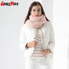 down coat female jacket short white winter coat garemay warm outwear clothing for women jacket down