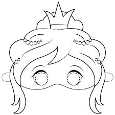 Disegno Di Mascherato Principessa Da Colorare Disegni Da Colorare