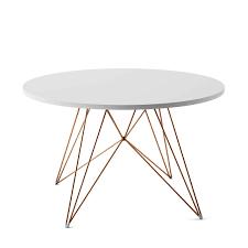 Designwebstore Xz3 Tisch Rund Verchromt Weiss