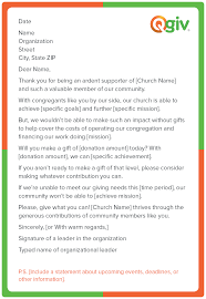 use our church fundraising letter template to raise money for your congregation