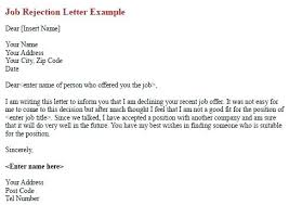 Rejecting A Job Offer After Accepting It Accepting A Job Via Email Offer Through Sample Antonchan Co