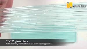 glass tile clear frosted waters antarctica 3x12