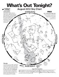 Monthly Sky Chart Monthly Sky Chart