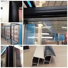 anti condensation glass door for supermarket refrigerator