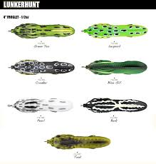 Lunkerhunt Froglet 2017 Color Chart Fishing Lure Color