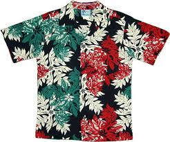 Boy's Rayon Shirt - Hawaiian Christmas Snowflake Boy's Hawaiian ...