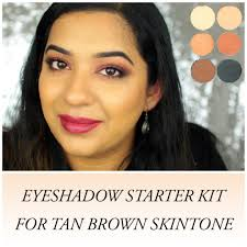 eyeshadow must haves for tan brown skintone and step by step eye makeup tutorial for beginners