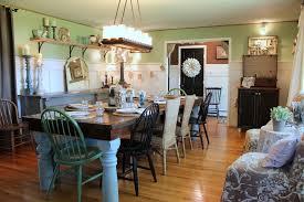farmhouse dining table dining room shabby chic with light green half wall farmhouse table
