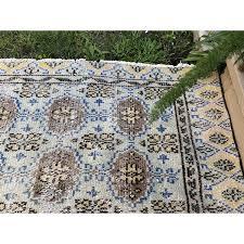 shawed 5 x7 vintage muted turkish rug old tribal handmade area throw