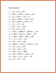 balance chemical equations worksheet balancing equations worksheet 1