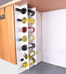 Nice JBI Wall Cabinet Mounted Steel Narrow Wine Rack 7 Bottle Holder Storage    White
