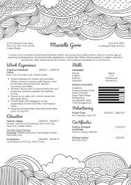 Resume Examples By Real People Wardrobe Stylist Resume