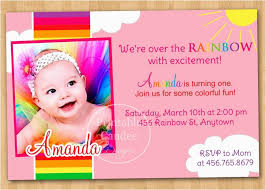 Formidable First Birthday Invitation Cards Templates Free India