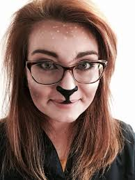 deer makeup with gles