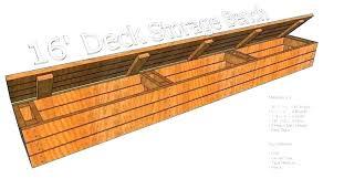 outdoor storage bench plans deck storage bench outside easy diy outdoor storage bench