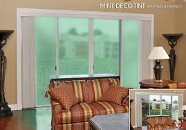 sliding glass doors decorated with mint privacy and mint see thru deco tint adhesive free