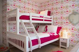 Inspiration for a large contemporary girl kids' bedroom remodel in London