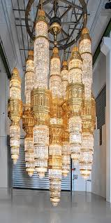 one of the largest chandeliers in the world ever produced for the al ameen mosque in