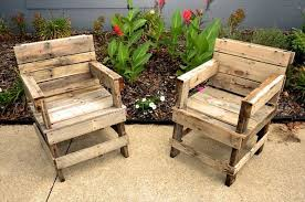 old pallet furniture. Comfy Recycled Pallet Chairs Old Furniture