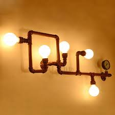 5 light brown wrought iron kitchen lighting