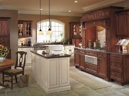 kemper cabinets rustic kitchen with contrasting finishes traditional kitchen