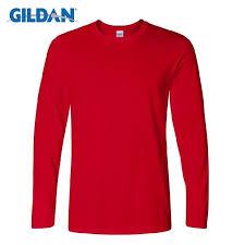 <b>Gildan</b> Men's Long Sleeve T shirts Spring Autumn <b>Casual O Neck</b> t ...