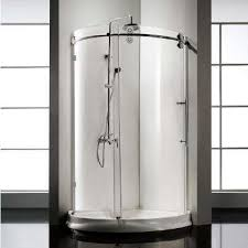 frameless sliding clear glass shower