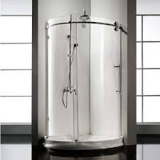 frameless sliding clear glass shower