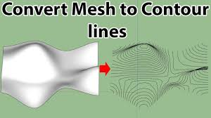 Also use the eraser tool to clean up the waste lines for the knuckle shape. Convert Mesh To Contour Lines In Sketchup Contour Line Converter Contour