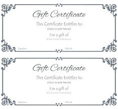 Fillable Gift Certificate Template Free Printable Gift Voucher Template Free Certificate