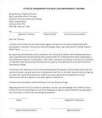 Training Sponsorship Letter Offer Event Proposal Format