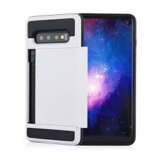 Amazon.com: for Galaxy S10 Case,Card Slot Armor Clip Slider 2 in 1 ...