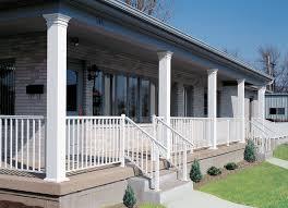 plain aluminum columns and railing