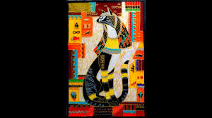 Egyptian Glass Painting Designs Glass Painting Designs Egyptian Cat Glass Painting
