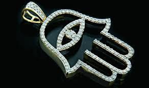10k gold 1 20ct diamonds hamsa pendant king johnny johnny s custom jewelry