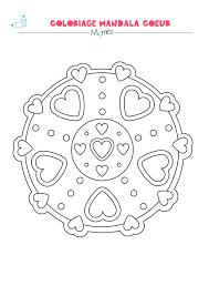 Mandala Coeur Colorier Facile Momes Net