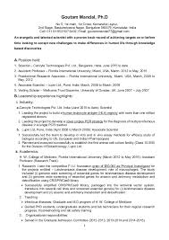 Goutam Mandal Resume